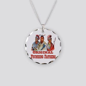 Original Founding Fathers Necklace Circle Charm