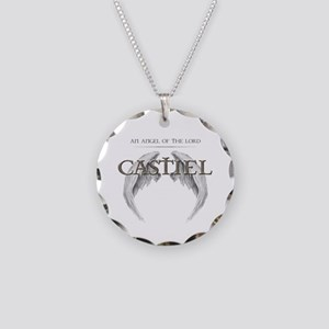 Supernatural CASTIEL Angel Wings Necklace Circle C