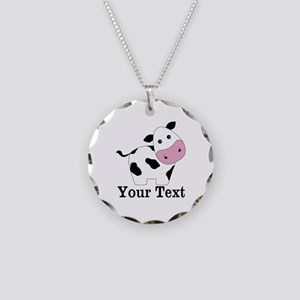 Personalizable Black White Cow Necklace