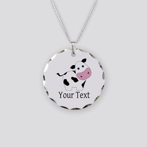 Personalizable Black and White Cow Necklace