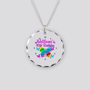 BLESSED 90TH Necklace Circle Charm