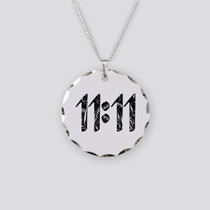11:11 Floral Necklace Circle Charm