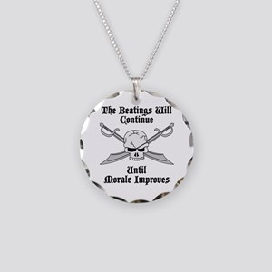 Morale Necklace Circle Charm