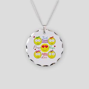 Faith Necklace Circle Charm