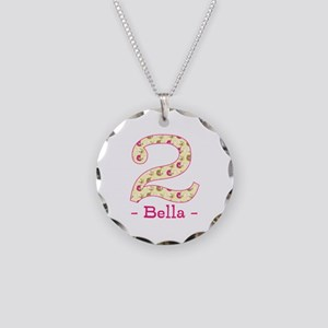 Customized Birdies 2nd Birth Necklace Circle Charm