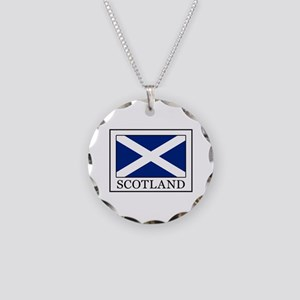 Scotland Necklace Circle Charm