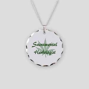 Sacramental Herbologist Necklace Circle Charm