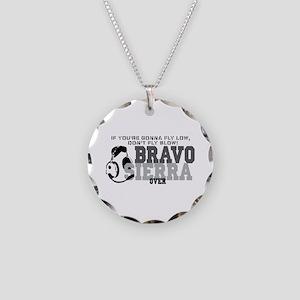 Bravo Sierra Avaition Humor Necklace Circle Charm