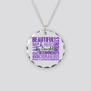 I Wear Violet 46 Hodgkin's Lymphoma Necklace Circl