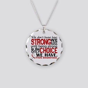 MDS How Strong We Are Necklace Circle Charm
