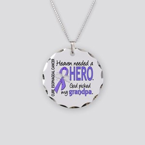 Esophageal Cancer HeavenNeed Necklace Circle Charm