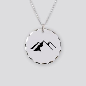 Mountains Necklace Circle Charm