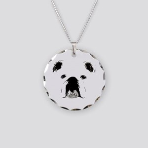 Bulldog Bacchanalia Necklace Circle Charm