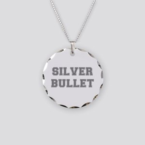 SILVER BULLET Necklace Circle Charm