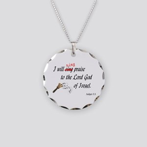 Ring Praise Necklace Circle Charm