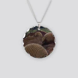 Vintage Armadillo Painting ( Necklace Circle Charm