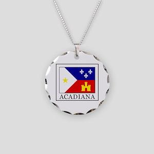 Acadiana Necklace Circle Charm