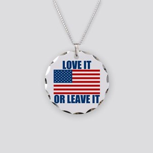 Love it or Leave it Necklace Circle Charm