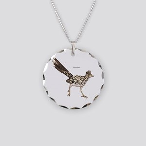 Roadrunner Desert Bird Necklace Circle Charm