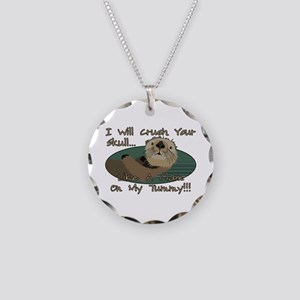 Otter Skull Crush Necklace Circle Charm