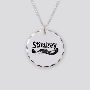 Stingray Necklace Circle Charm