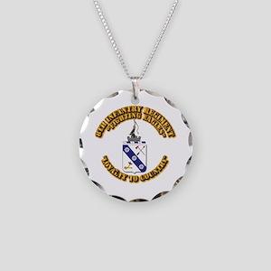 COA - 8th Infantry Regiment Necklace Circle Charm