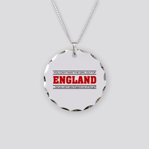 'Girl From England' Necklace Circle Charm