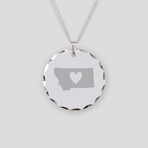 Heart Montana Necklace Circle Charm