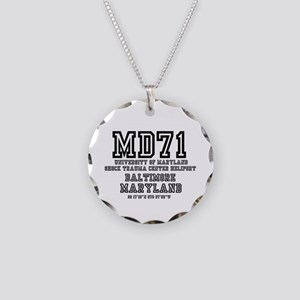 UNIVERSITY AIRPORT CODES - M Necklace Circle Charm