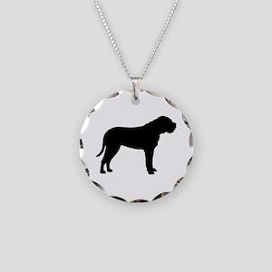 Bullmastiff Dog Breed Necklace Circle Charm