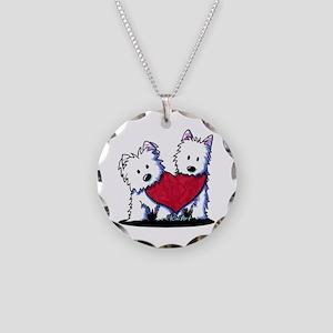 Heartfelt Westies Necklace Circle Charm