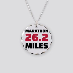Marathon 26 miles Necklace Circle Charm
