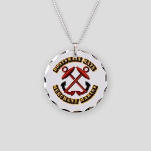 USMM - Boatswain Mate Necklace Circle Charm