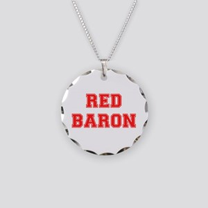 RED BARON! Necklace Circle Charm
