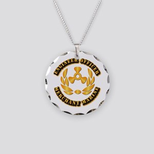 USMM - Engineer Officer Necklace Circle Charm