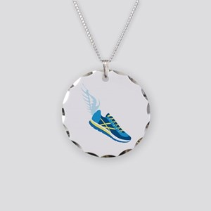 Running Shoe Wing Necklace