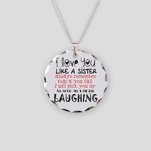 like a sis Necklace Circle Charm