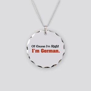 I'm German Necklace Circle Charm