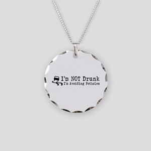 Drunk Potholes Necklace Circle Charm