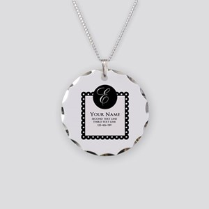 Personalized Texts Necklace Circle Charm