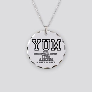 AIRPORT CODES - YUM - YUMA, Necklace Circle Charm
