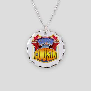 Super Cousin Necklace Circle Charm
