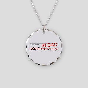 Job Dad Actuary Necklace Circle Charm
