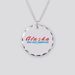 Alaska - Last frontier Necklace Circle Charm
