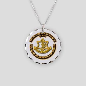 Israel Defense Force - IDF Necklace Circle Charm