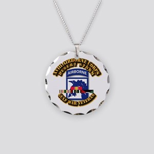 Army - DS - XVIII ABN CORPS - w DS Necklace Circle