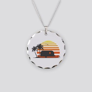 California Streamin' Necklace Circle Charm