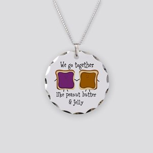 Peanut Butter and Jelly Necklace