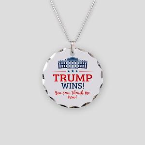 Trump Wins Necklace Circle Charm