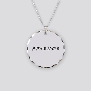 Friends are funny Necklace Circle Charm
